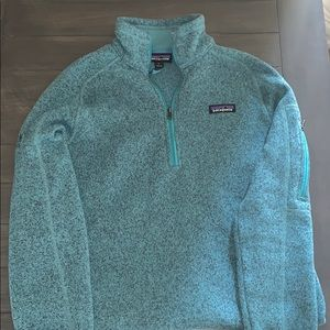 Blue Patagonia quarter zip